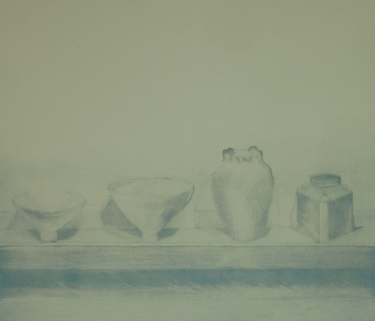 Print-25-Still-Life-(4-objects-on-shelf)-1972